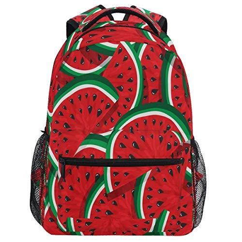 Mouthdodo Mochila de sandía de verano con frutas rojas para viajes, senderismo, camping, escuela, portátil