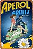 Henson Aperol Spritz Social Vintage Tin Sign Logo 12 * 8 Inches Advertising Eye-Catching Wall Decoration