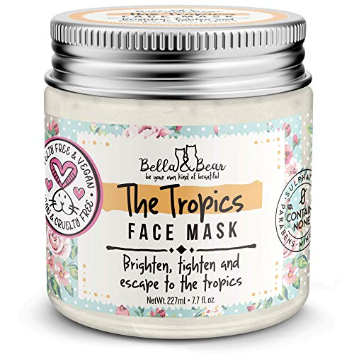 Bella And Bear - Tropics Face Mask - Brighten - Tighten - Tone - Pore Minimizer - Cruelty Free - Vegan