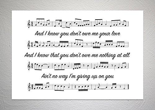 Robin Schulz, David Guetta & Cheat Codes - Shed A Light - Song Sheet Art Print - A4 Size