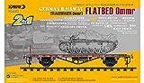 German Railway Flatbed Ommr (Flachwagen Ommr) Sabre Model | No. 35A03 - maqueta Tren vagon aleman...
