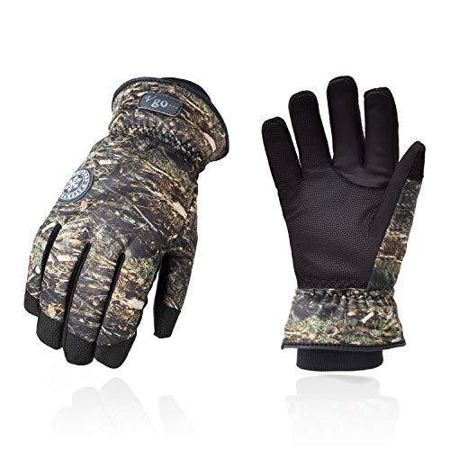 guanti caccia Vgo... Guanti da Lavoro in Pelle di Capra Foderati 3M Thinsulate C40 a 0 ° C o Superiore per Escursionismo