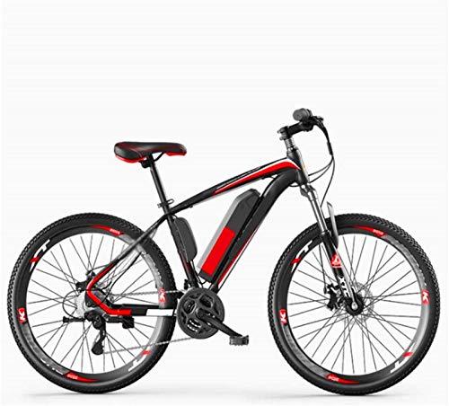 ZJZ Bicicletas eléctricas de 26 Pulgadas, Bicicleta de 27 velocidades, Freno de Disco Doble, Bicicleta para Adultos, Deportes al Aire Libre