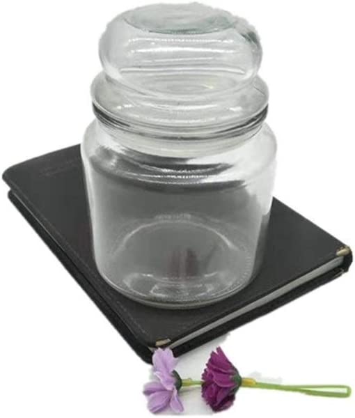 FMONH Storage Jars Glass Max 77% OFF Jar Bamboo High Boros with Lid 67% OFF of fixed price