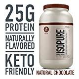 Isopure Naturally Flavored, Keto Friendly Protein Powder, 100% Whey Protein Isolate, Flavor: Natural Chocolate, 3 Pounds (Packaging May Vary)