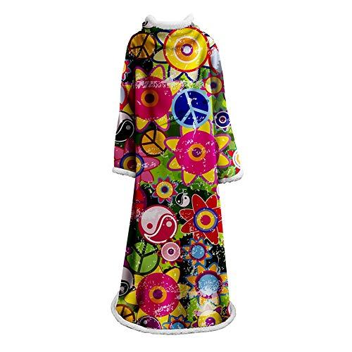 FUFU Mantas y mantitas Throw linda con mangas for los niños y for adultos cómodo juventud manta suave calor acogedor Comfort Aire acondicionado Máquina de lavado Sherpa Fleece Blanket para todas las e
