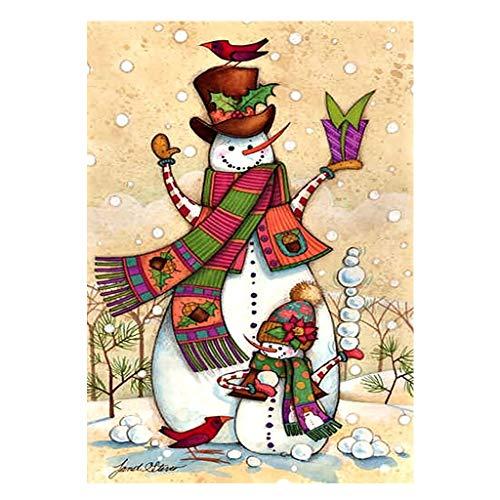 Pintura de diamantes 5D cuadrados, pintura por números para niños, Papá muñeco de nieve punto de cruz kit bordado de Navidad, manualidades lienzo para decoración de pared, el hogar, 30 x 40 cm
