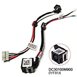 DC Jack Power with Cable Harness for Dell Inspiron 15-3521 15-3537 15R-5521 15R-5537 M531R YF81X 0YF81X DC30100M900