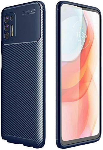 JianSaint Funda de Fibra de Carbono para la Serie Motorola (Moto G Stylus Power Play 2021 E7 Edge G8 .), Funda Protectora de TPU Suave antirrayas a Prueba de Golpes