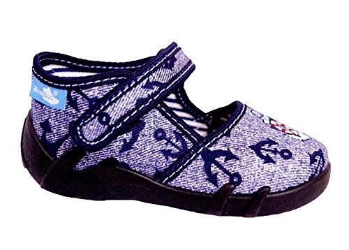 Generic Renbut Baby Jungen Kinder Schuhe Hausschuhe Lauflernschuhe Anker Jeans Blau Schuhgröße EUR 20