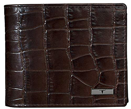Urban Forest Drogon Brown Printed RFID Blocking Leather Wallet for Men