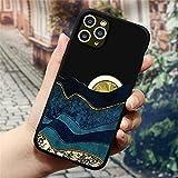 Funda de teléfono de montaña en Relieve 3D para iPhone 11 Pro SE 2 2020 5 5S X XS MAX 7 6 6S 8 Plus 11Pro MAX Funda Trasera de TPU para iPhone XR, sbjinri, para iPhone 11 Pro