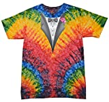 Buy Cool Shirts Tuxedo Pink Flower Tie Dye Woodstock T-Shirt 3XL