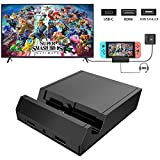 [2020 Upgraded] Switch TV Dock, KKUYI Replacement for Nintendo Switch Dock, Mini Portable Switch Charging Dock TV Switch Docking Station with 4K HDMI,USB 3.0 Port,C Power Input and 3.5 Headphone Jack