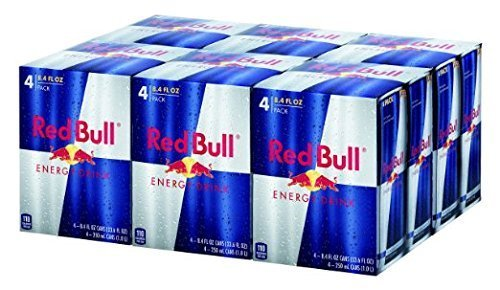 Red Bull Energy Drink, 8.4-Fluid Ounce Cans, 48 Pack by Red Bull