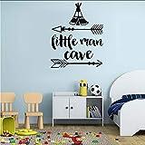 Qwerlp Kinderzimmer Inspirierend Zitat Wandaufkleber Little Man Cave Wandtattoos Baby Kinderzimmer Wandpapier Für Home Wandtattoos