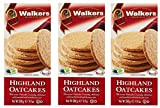 Walkers Shortbread Highland Oat Crackers, 9.9 Ounce Traditional Oatcake Crackers (Thrее Рack)