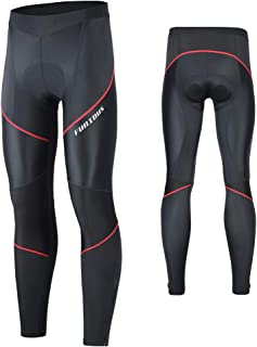 FEIXIANG Men's Cycling Tight Pants 4D Padded Bicycle Riding Compression Leggings Bike Clothes Cycle Wear Sport Tights