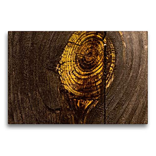 CALVENDO Premium Textil-Leinwand 75 x 50 cm Quer-Format Lack ab! Details von altem Holz und abblätternder Farbe, Leinwanddruck von H.T.Manfred Zimmermann