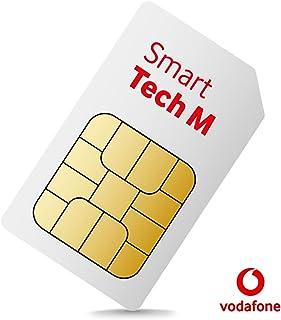 Vodafone Smart Tech M – Kan användas i smarta enheter (t.ex. GPS Tracker, Smartwatches, kameror) – 500 röstminuter, 100 SM...