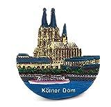 zamonji Köln Dom, Deutschland 3D Harz Kühlschrankmagnet Magnetaufkleber Souvenir Tourist Geschenk Home & Küche Deko