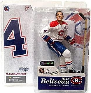 McFarlane Toys NHL Sports Picks Legends Series 2 Action Figure Jean Beliveau (Montreal Canadiens) White Jersey Variant