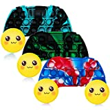 Ignislife Push Pop Game Controller Gamepad Shape Bubble Sensory Fidget Toy, 3 Pack Silicone Squeeze Sensory Toy, Autism Special Needs Stress Reliever Stress Toys for Kids Adults