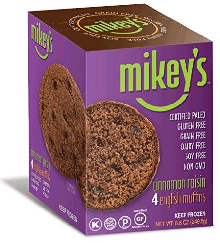 Paleo Bread, English Muffins, Cinnamon Raisin, 4 Per Box (2 Pack)
