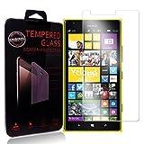 Ycloud Panzerglas Folie Schutzfolie Bildschirmschutzfolie für Nokia Lumia 1520 screen protector mit Festigkeitgrad 9H, 0,26mm Ultra-Dünn, Abger&ete Kanten