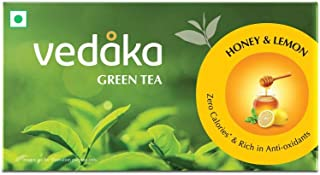 Amazon Brand – Vedaka Green Tea, Lemon and Honey, 25 Bags