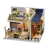 Nobranded Kit de Casa de Muñecas en Miniatura para Bricolaje - Casa Hokkaid a Escala 1:24 con Cubierta Antipolvo de Luces