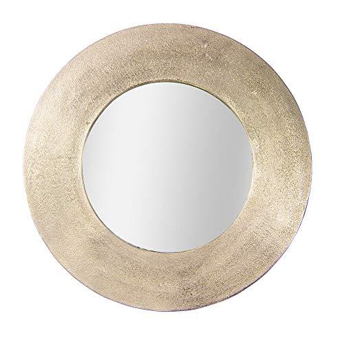 Table Passion - Espejo redondo de metal dorado 74 cm