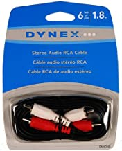 Dynex 6' Stereo Audio RCA Cable