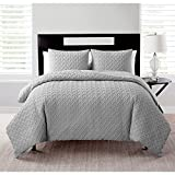 VCNY Home Nina Collection Comforter Soft & Cozy Bedding Set, Stylish Chic Design for Home Décor, Machine Washable, Twin/Twin XL, Grey