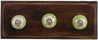 IndianShelf Lot de 2 crochets en bois doux faits à la main pour accrocher des clés, des chapeaux ou des vêtements