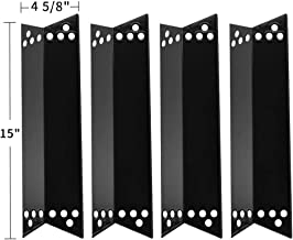 SHINESTAR Grill Replacement Parts for Kenmore 415.16107110, 415.16106210, Charbroil 463411512, 463411911, Nexgrill 720-0719BL, 15 inch Porcelain Steel Heat Shield Tent Plates Flame Tamers (SS-HP008)