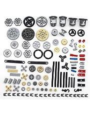 Bulokeliner Techniek reserveonderdelenset, technische onderdelen stenen bouwpakket techniek motor transmissie uitrusting klembouwstenen techniek connector, compatibel met Lego Technic