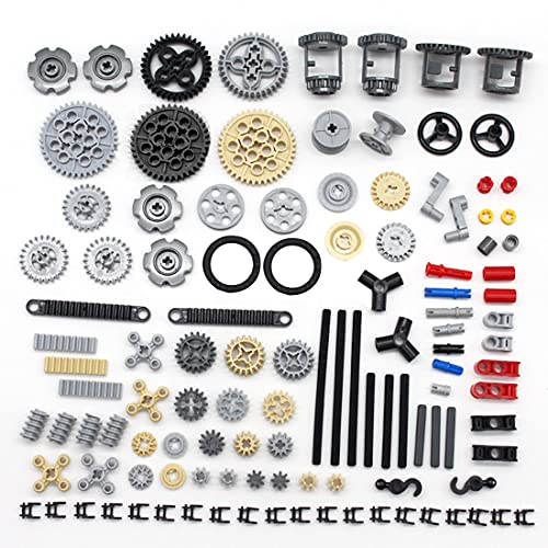 Bulokeliner Technik Ersatzteile Set, Technik Teile Steine Bausatz Technik Motor Getriebe Ausrüstung Klemmbausteine Technik Verbinder, Kompatibel mit Lego Technic