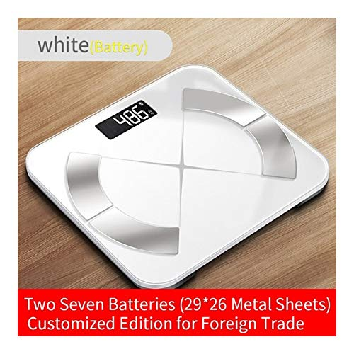 Scales for Body Weight, Bluetooth-Scales Intelligent Floor Body Fat Scale Smart LED Display Body Weight Scales Muscle Mass BMI Digital Bathroom Scale Best Fitness Weight Loss Scale Health Monitor