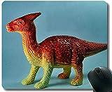 Alfombrilla de ratón de 30 * 25 * 0.3 cm con Borde de Bloqueo Dragon Dinosaur Office con Bordes cosidos para el hogar y la Oficina