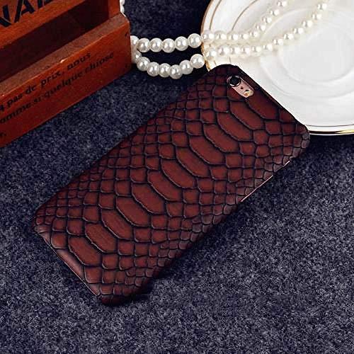KNGYUTF telefoonhoes krokodilvorm telefoonhoes voor iPhone 5 5 5 s SE 6 6 s 7 8 Plus x XR xs max hard plastic beschermhoes telefoon achterkant afdekking geschenk für iPhone X bruin