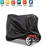 Nomiou Mobility Scooter Cover with Storage Bag Heavy Duty Black Protects from Snow Rain Dust and Sun