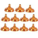 Uoeo 10 Stück Tischflaggenständer, 1 Loch Mini-Flaggenständer, Flaggenmast-Halterung, Ständer Premium Flaggenhalter, Tisch-Display, Gold