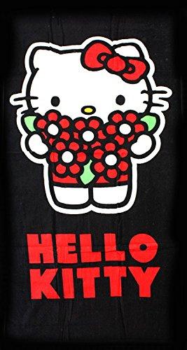 Hello Kitty en playa paradisíaca toalla de baño | Flores