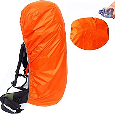 Joy Walker Waterproof Backpack Rain Cover Suitable (55-70L, 70-90L) Backpack (Orange, XL (55-70L backpack))