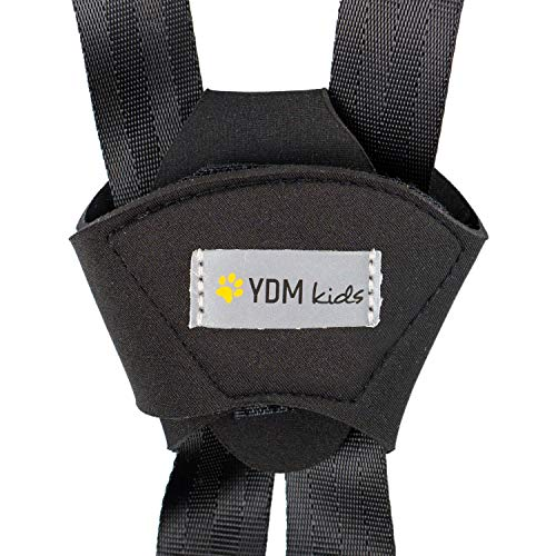Protector de cinturón de seguridad para asientos de niños con Velcro firme, evita desabrocharse mientras conduce, Material suave de neopreno, cubierta de correa para silla de coche, buggy y cochecito