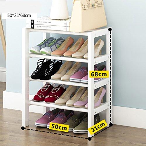 CHGDFQ Estante para zapatos de madera maciza de 4 niveles, para el hogar, pequeño, para el polvo, zapatos blancos (tamaño: 50 cm)