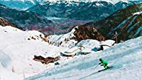 数字キットによるDIYペイント油絵カラートークキャンバス大人のための家の壁の装飾初心者-スキーヤーマウンテンスノー 40×50cm(フレームレス)
