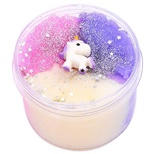 SWZY Unicorn Slime, Unicorn Surprise Slime Toy per Bambini e Giocattoli Antistress per Adulti,200ml