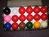 17 Ball Snooker Set-2 inch balls , incl 10 reds by Set of snooker ball for POOL TABLES,